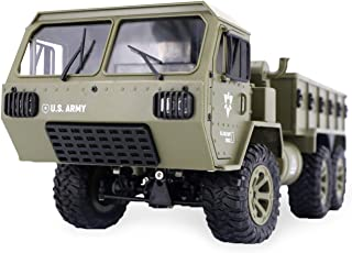 The perseids RC Military Truck, 1:12 Scale 2.4G 6WD Heavy Off-Road Vehicle Remote Control Full Proportion Army Car Toy for Kids Over 14 Years Old & Adults