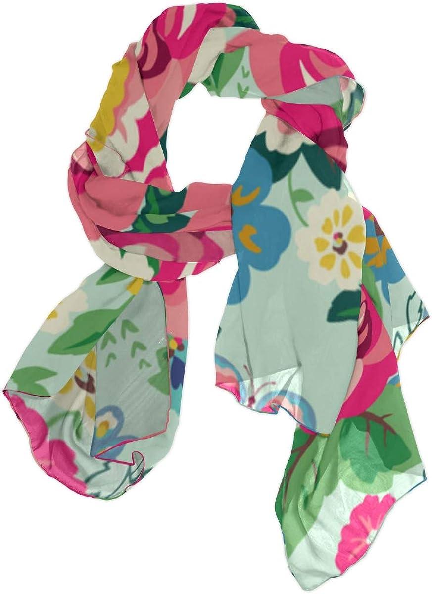 Wrap Shawls Beautiful Romantic Spring View Flower Womens Scarf Summer Cute Scarf Lightweight Print Scarves Scarf Unisex Mens Scarfs Fashion Thin