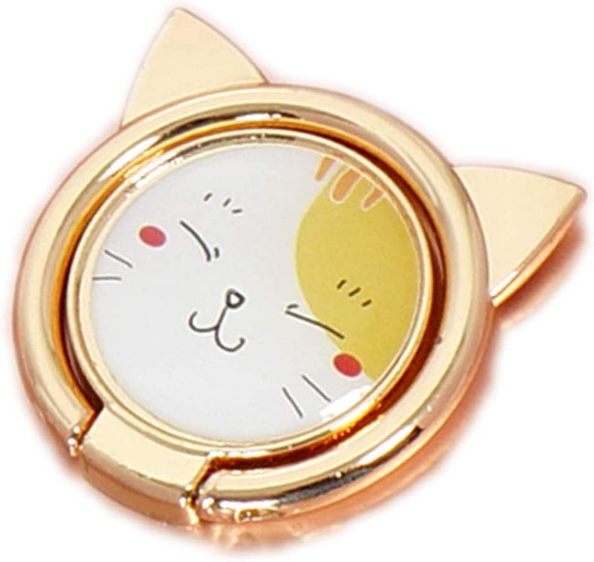 Cute Cat Pattern Cell Phone Mail order cheap Ring Degree Stand Rotation Limited time cheap sale 360