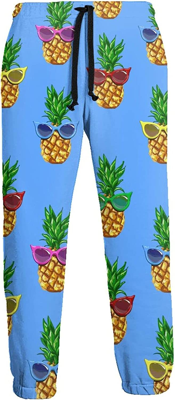 Active Sweats Jogger Pants Pineapple Sunglasses Tropical Running Joggers Casual Sweatpants for Men Women