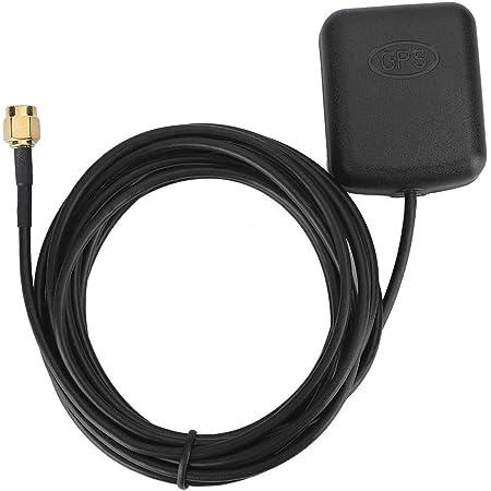 Receptor GPS para automóvil, 3 metros/9.8ft Antena GPS para automóvil Conector SMA Cable aéreo Base magnética Amplificador de señal de navegación DVD