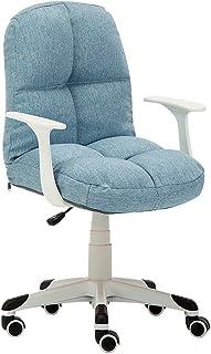 KFDQ Sillas de escritorio, silla de oficina Silla de juego Silla de escritorio giratoria, reposabrazos Silla ergonómica para computadora con reposabrazos Mujeres Hombres Adultos Silla elevadora