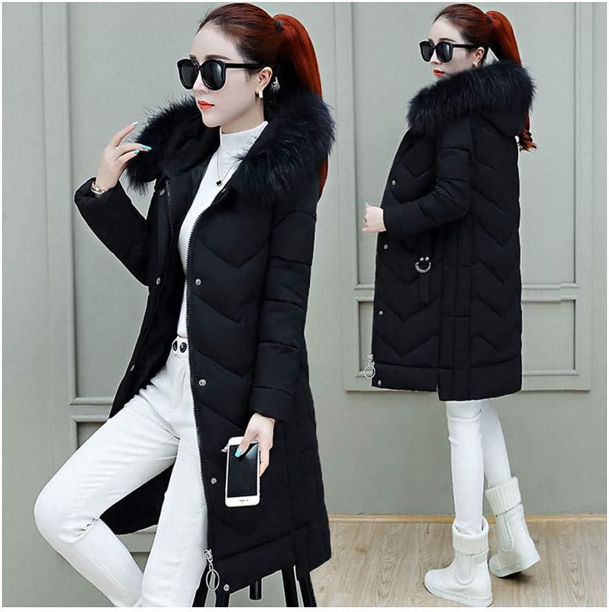 Jacket Women Big Fur Hooded Long Max 68% OFF Warm Outwear Tucson Mall Parkas Femal Thick