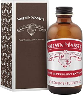 Nielsen-Massey Pure Peppermint Extract, with gift box, 4 ounces