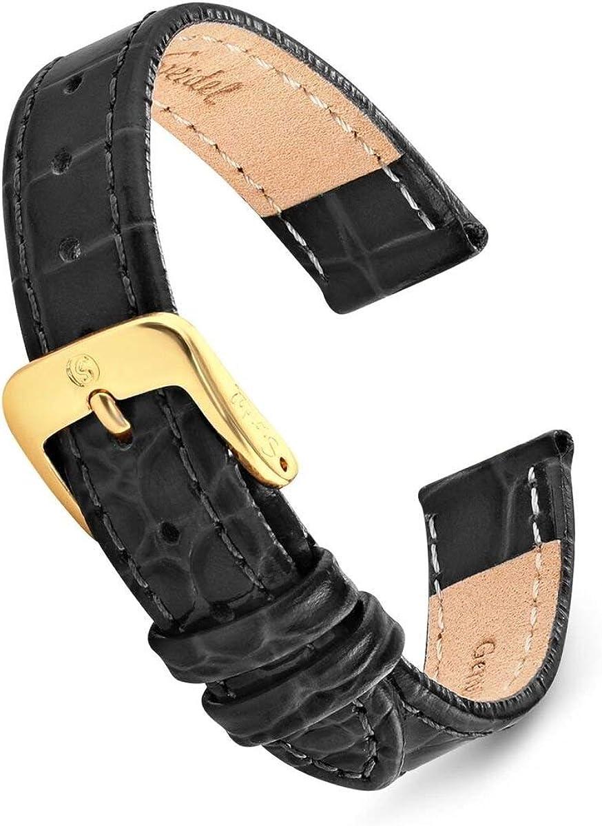 Speidel Leather New item Alligator Grain Ladies Super special price Ranges Watch 8 Band- Size