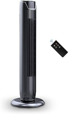 PELONIS FZ10-19JR Tower Fan, 36-inch, Black
