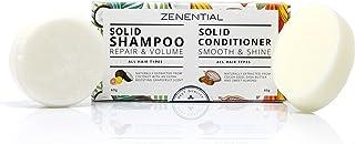 Shampoo + Balsamo Solidi, Pack 2 (60 g + 40 g) - Capelli Morbidi e Lucenti - 100% vegano e biodegradabile. Senza solfati e...