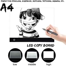 $80 » Molisell Eco-Friendly LED Dimmable Cartoon Drawing Board Pro A4 Light Duplication Drawing Board,Lightweight Ultra-Bright No Flicker (White)