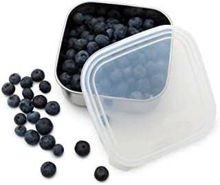 U-Konserve - To-Go Container, Stainless Steel, Multiple Containers in One, Ideal for Lunches, Picnics and Travel, Dishwasher Safe (Small, Stainless/Clear)