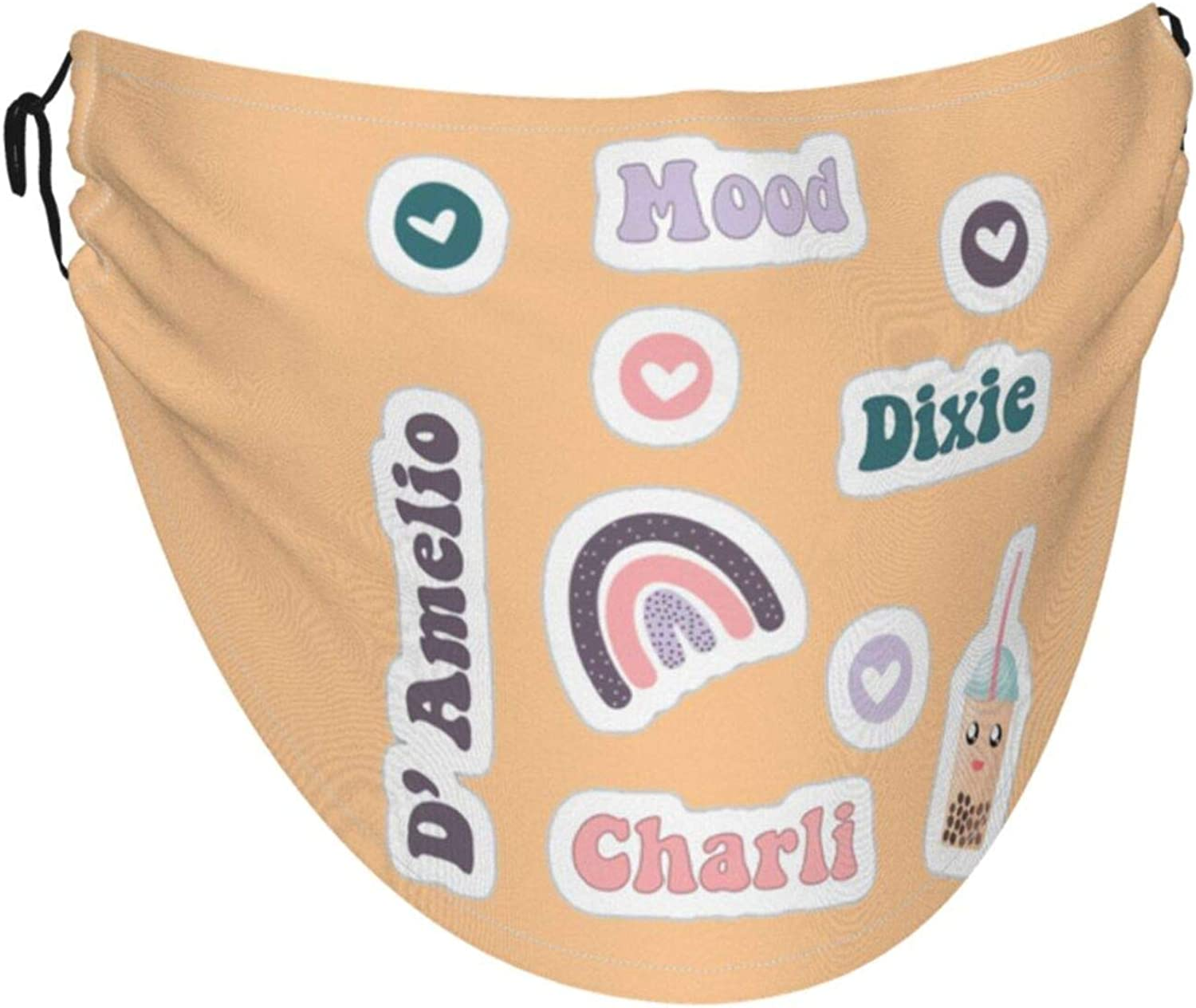 Charli Damelioface Mask With Adjustable Ear Loops Cloth Reusable Face Face Mask Is Made Of Soft And Skin-Friendly Ice Silk Fabric