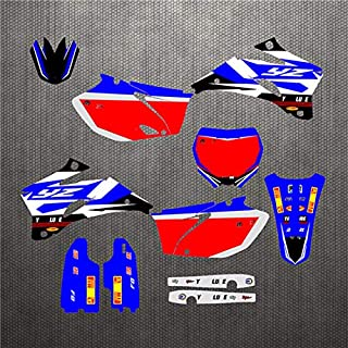 New Style Team Motorcycle Graphic Background Decals And Stickers For Yamaha YZF 250 450 YZF250 YZF450 2006 2007 2008 2009 (Model 2)