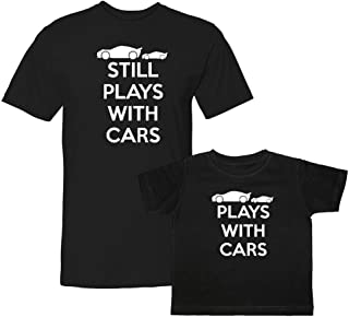 Plays with Cars & Still Plays with Cars Matching Adult T-Shirt & Child T-Shirt Set