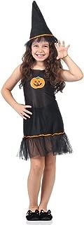 Fantasia Vestido Abobora Infantil Sulamericana Fantasias Preto M 6/8 Anos