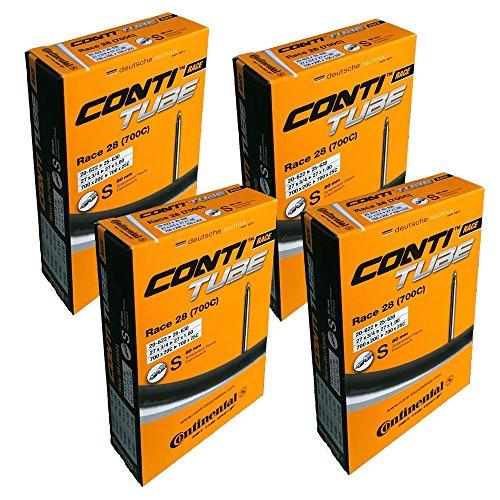 Continental Fahrradschlauch, 28Zoll,700 x20 - 25,Presta-Ventil 80mm,4Stück