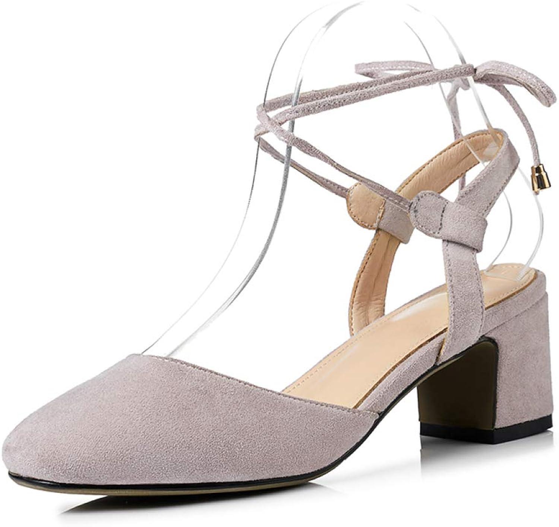 JOYBI Womens Chunky Thick Heel Dress Sandals Ankle Strap Summer Non-Slip Slingback Closed Toe Pumps Sandal