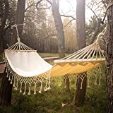 Canvas Fabric Hammock with Wood Spreader...