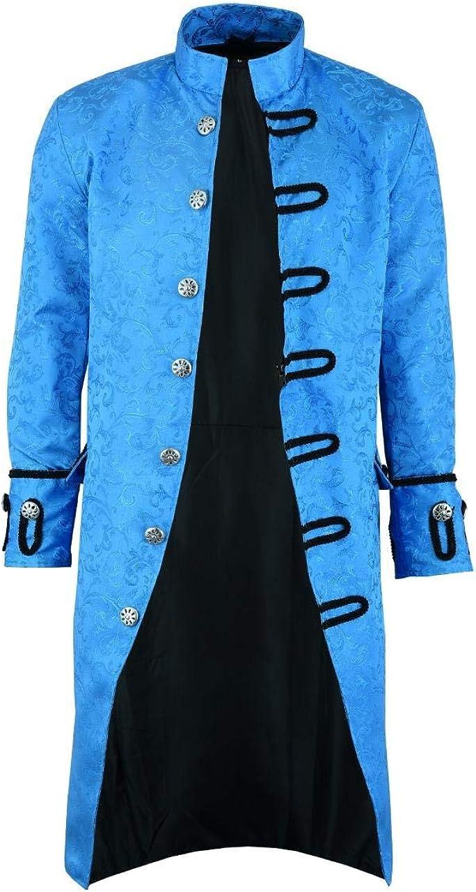 Darkrock Prime Quality Mens Jacket Velvet Goth Fees free Steampunk Victori Louisville-Jefferson County Mall
