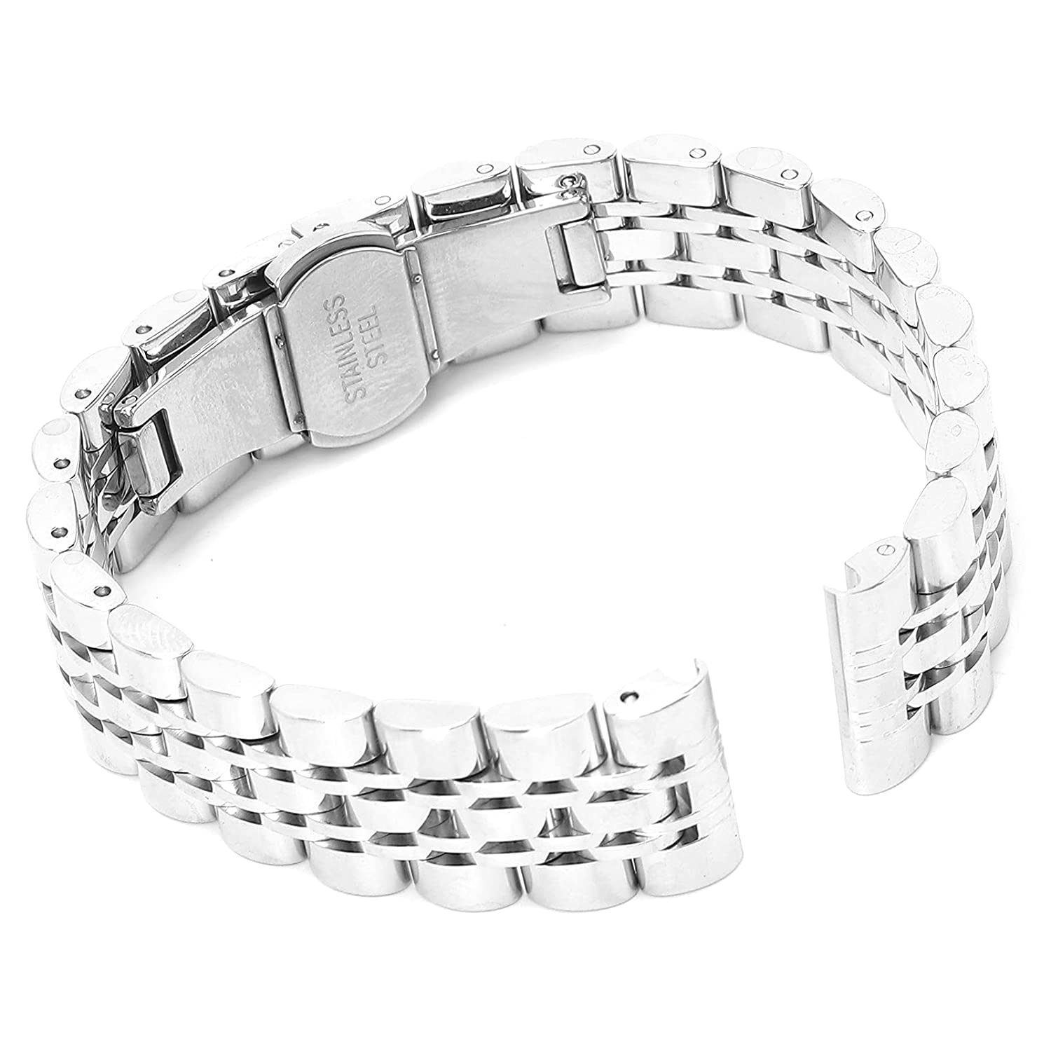 WatchBand service store Buckle Stainless Steel Watch Metal Strap Replacement
