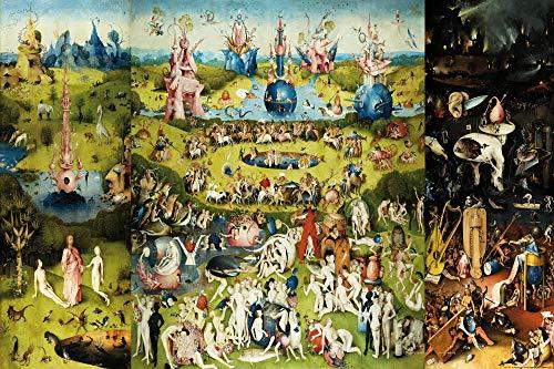 1art1 El Bosco - El Jardín De Las Delicias, 1500 Póster (91 x 61cm)