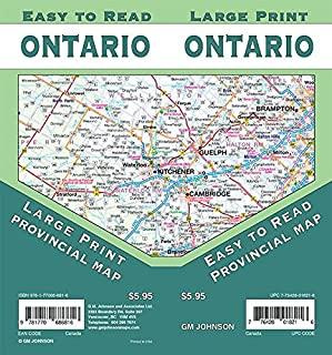 Ontario Large Print Province Map