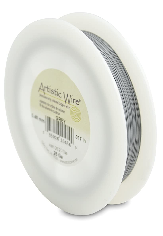 Artistic Wire 26-Gauge Grey Wire, 1/4-Pound