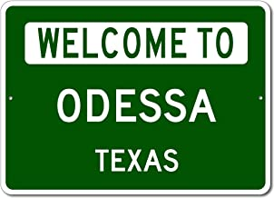 Odessa, Texas - Welcome to US City State Sign - Aluminum 10