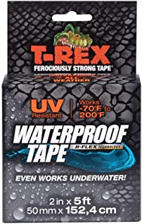 T-REX Waterproof Tape for Wet or Rough/Dirty Surfaces Including Underwater, Leaks, Hose Repair and More, Black, 1-Roll (28...