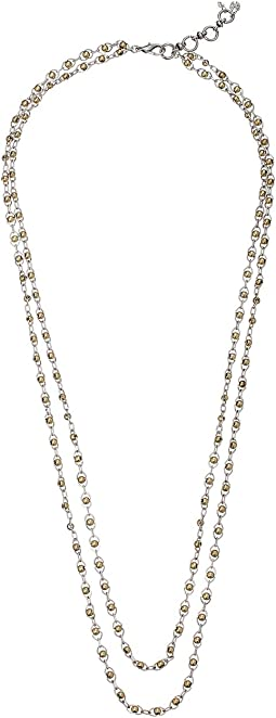 Lucky Brand Indigo Trail Double Layer Two-Tone Strand Necklace