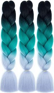 teal hair weave