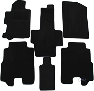 J/&J AUTOMOTIVE Tapis de Sol Noir Velours Compatible avec Honda Civic 2012-2016 4 pcs