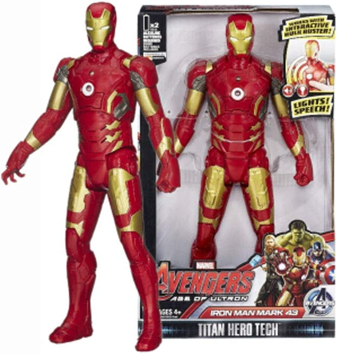 Toys  Miracle Toys  DC Toys  Avengers 3 4 Joint Detachable  Spiderman   Iron Man   Captain America   Hulk ( color   A )