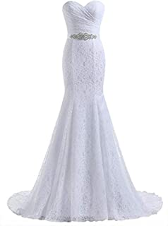 Women's Lace Mermaid Bridal Wedding Dresses