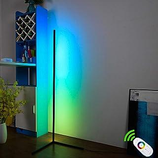 Lámpara de pie plegable con trípode, led regulable con cambio de color RGB y mando a distancia, estilo minimalista y moderno, para salón, dormitorio o sala de juegos