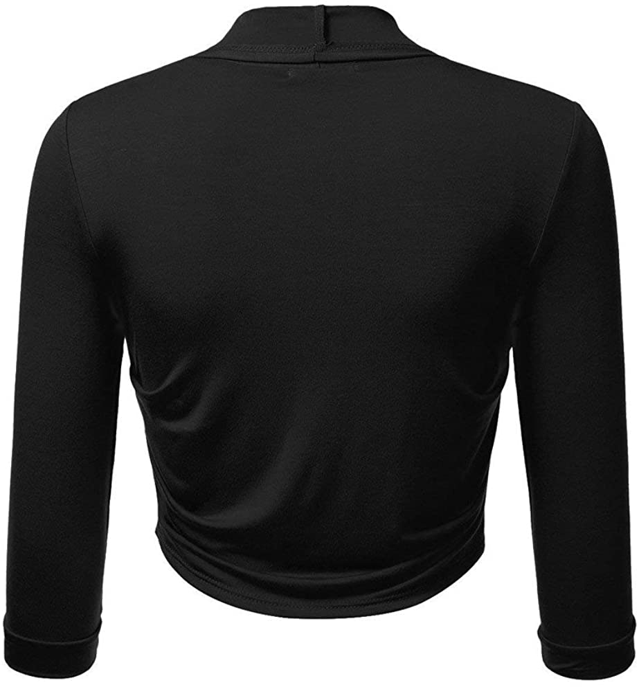 Womens Tops,Women Plus Size Solid Bolero Shrug Open Front Cropped Mini Office Work Cardigan