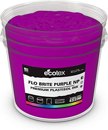 Ecotex Flamingo Pink NP Plastisol Ink for Screen Printing Non Phthalate Formula Quart