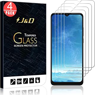 J&D kompatibel med Alcatel 3X 2020 glasskärmskydd, 4-pack [härdat glas] [Inte full täckning] HD klart ballistiskt glas skä...