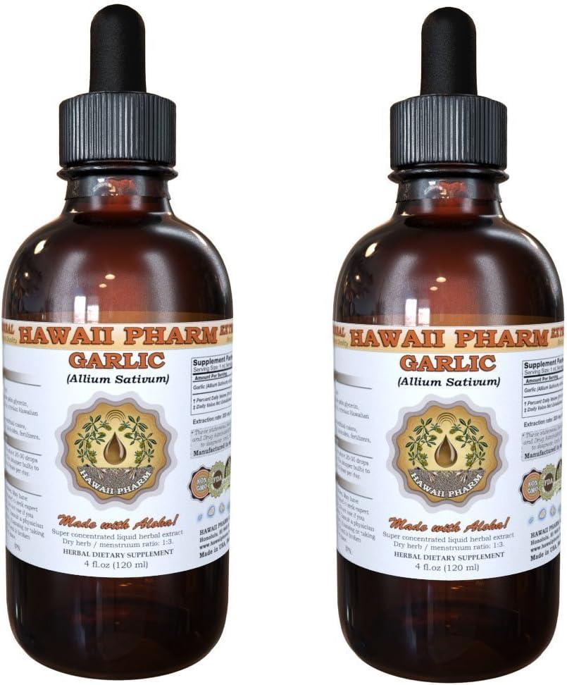 Garlic Allium sativum Direct stock discount Liquid outlet 2x4 Extract Oz