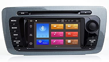 TOPNAV 2Din 8Inch 32GB ROM 4G RAM Android 8.0 Octa Core Auto DVD Play for Seat Ibiza 2009 2010 2011 2012 2013 Head Unit Car GPS Navigation with WiFi Mirror Link RDS Bluetooth 3G Video Audio Stereo