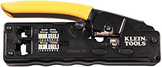Klein Tools VDV226-107 Compact Ratcheting Modular Data Cable Crimper / Wire Stripper /..