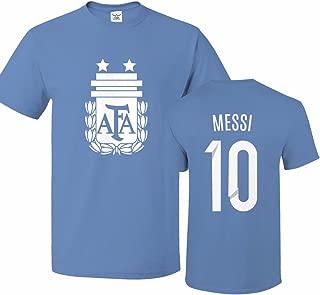 Argentina Soccer Shirt Lionel Messi #10 Jersey Men T-Shirt