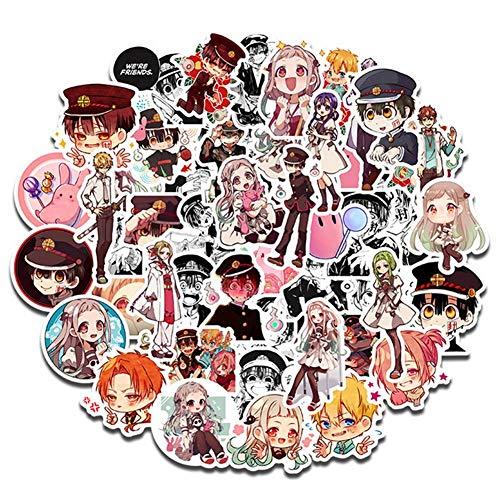 Zhenzhiao Paquete de 50 pegatinas de cristal con dise/ño de anime Hanako-kun anime