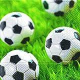 20 Servietten Go for goal – Tore schiessen / Fussball 33x33cm