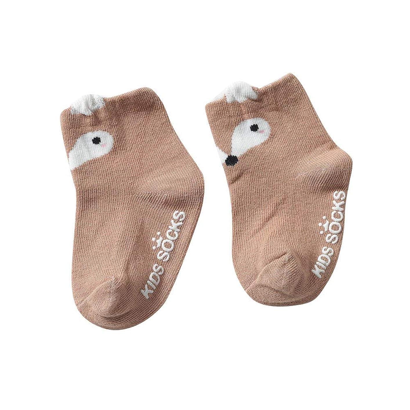 触手の間に進化ソックス幼児のソックス幼児新生児漫画動物パターン靴下1ペアアンチスリップソックスフロアソックス男の子女の子用ソックス