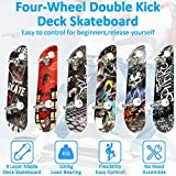 Zoom IMG-1 skateboard per principianti 79cm 20cm