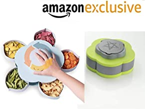 VOETEX ZONE™ Dry Fruit Storage Box with Smart Rotating Multi Purpose Tray Spice, Masala, Candy, Pickle, Snacks Storage Container for Home and Kitchen (Multicolor)