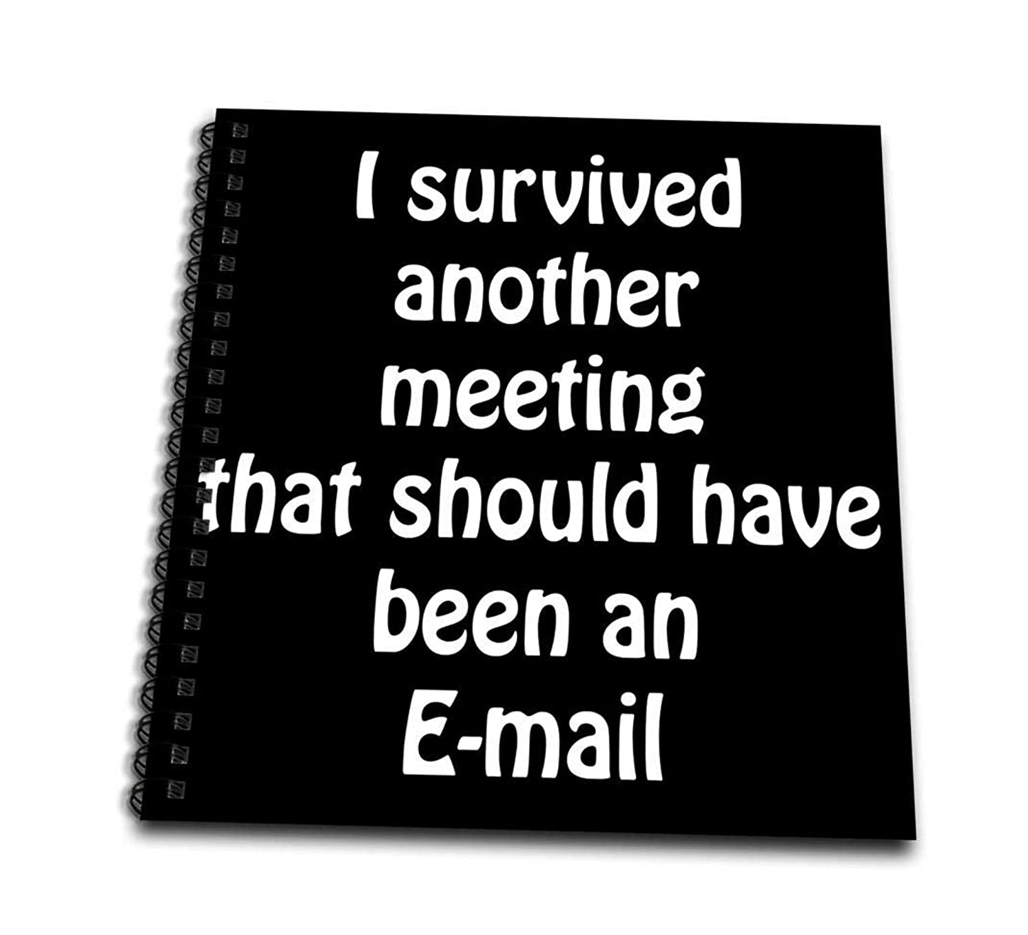3dRose db_218472_3 I Survived Another Meeting That Should Have Been an Email Mini Notepad, 4 by 4
