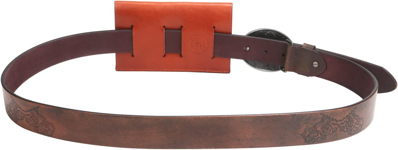 Tourbon Leather Cartridges Holder Ammo Carrier Belt Slide 375//300//30-06 Caliber