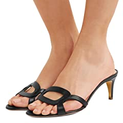 5fc627194d7 FSJ Women Summer Low Heels Sandals Open Toe Kitten Mules Cuto .