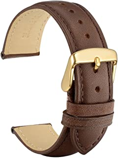 WOCCI Watch Band 14mm 18mm 19mm 20mm 21mm 22mm - Vintage Leather Watch Strap,Choice of Color and Width