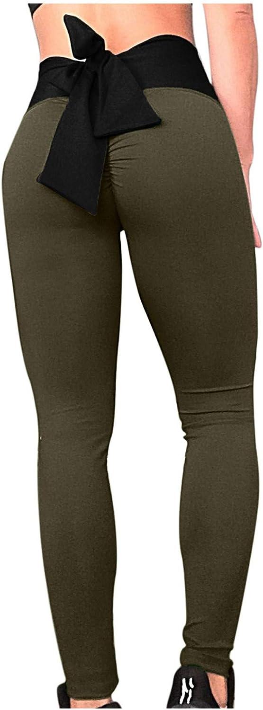 Bravetoshop TIK T ok Leggings for Women High Waisted Yoga Pants Tummy Control Ruched Butt Lifting Leggings